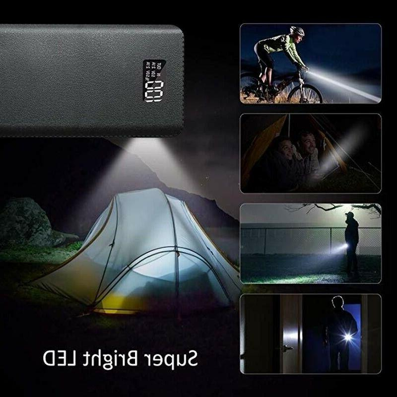 900000mAh Power Bank LCD LED Charger for Cell US
