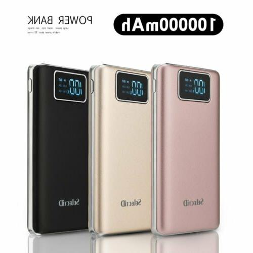 100000mah power bank lcd portable external battery