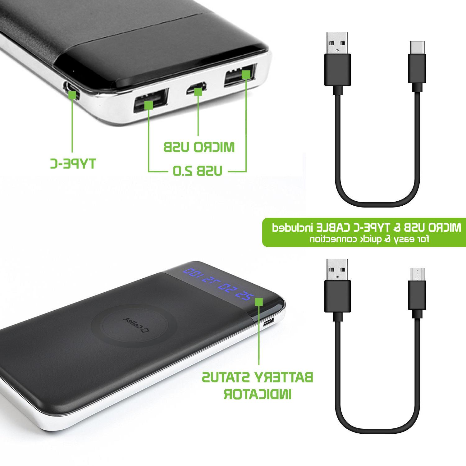 10000mAh Portable Wireless Charger Power X