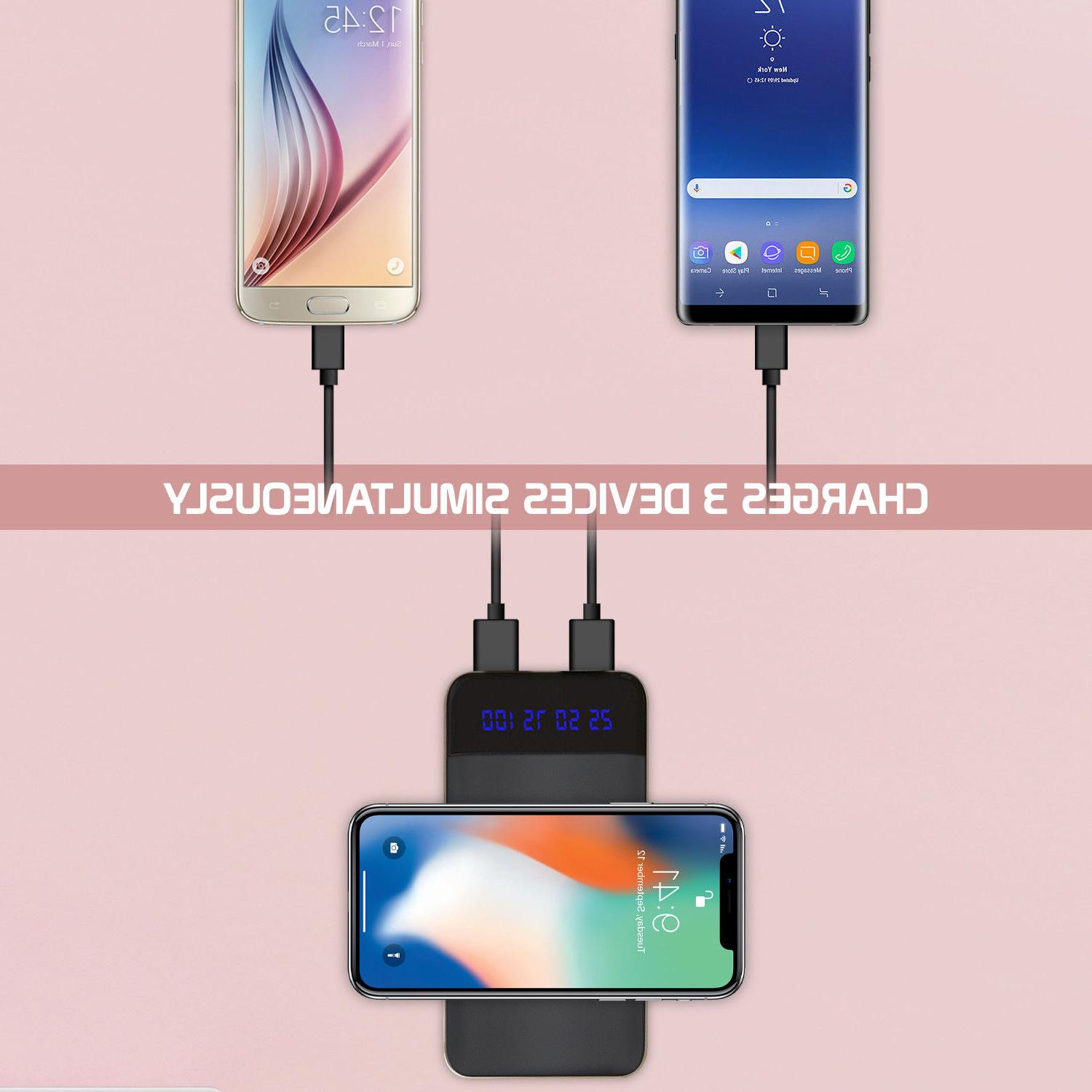 10000mAh Charger Power for Samsung Galaxy iPhone X