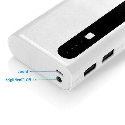 AIBOCN 10000mAh Power Dual USB Mobile Battery Charger