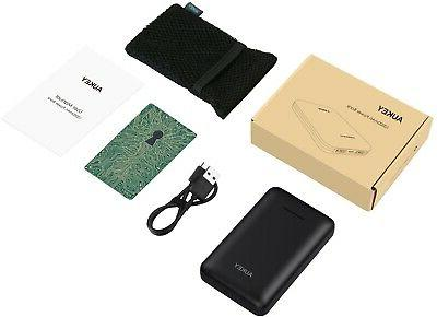 AUKEY 10000mAh POWER BANK, STREAMLINE Portable Charger Dual-USB Output