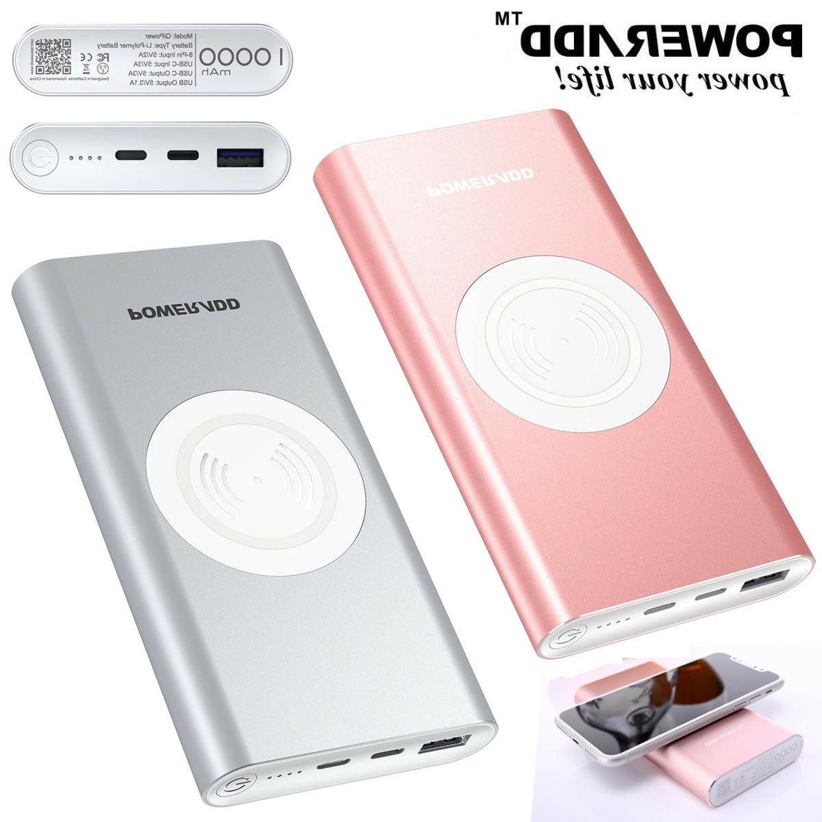 10000mah qi wireless 3 in 1 power