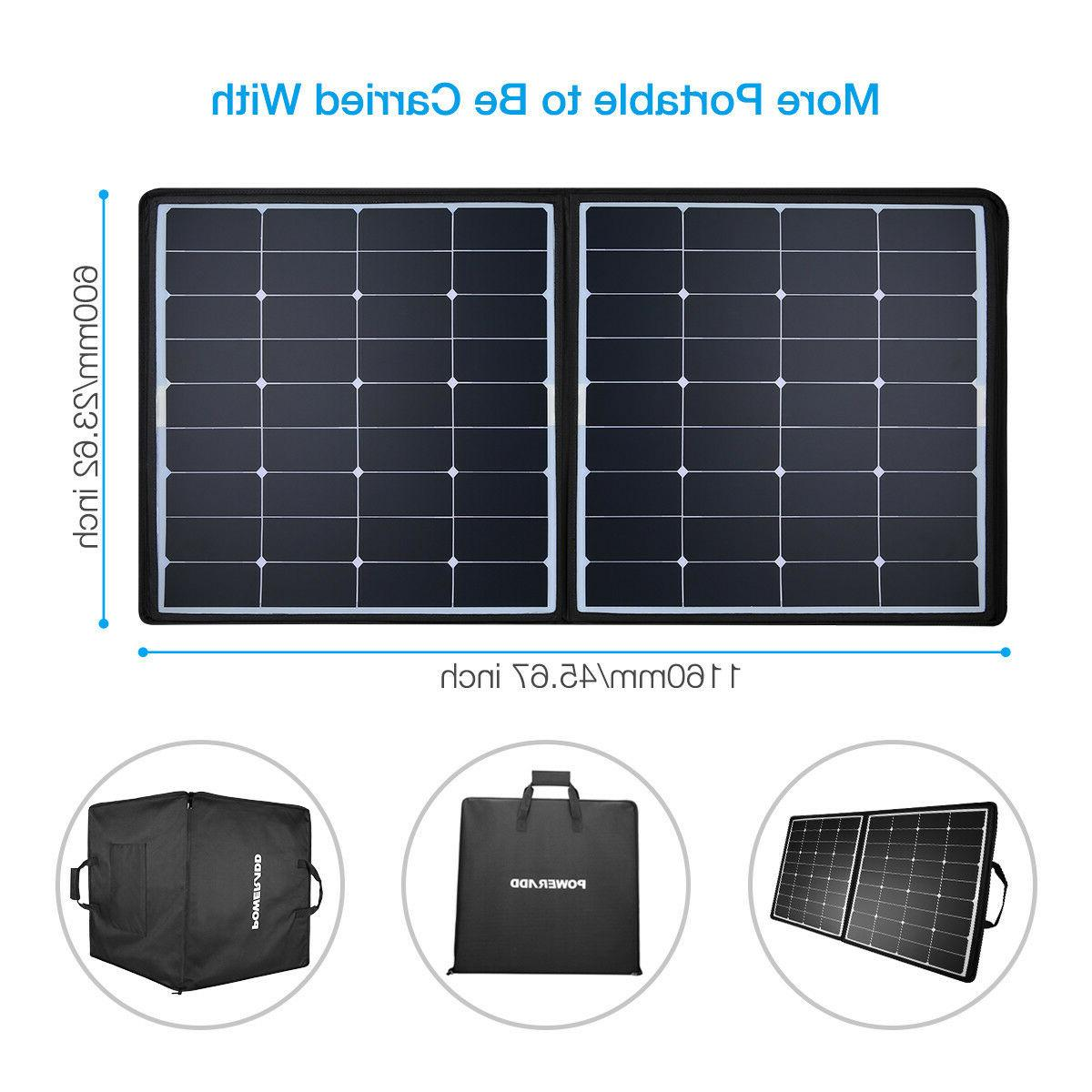 Poweradd 100W 12V Foldable Battery Charger for RV Boat Home