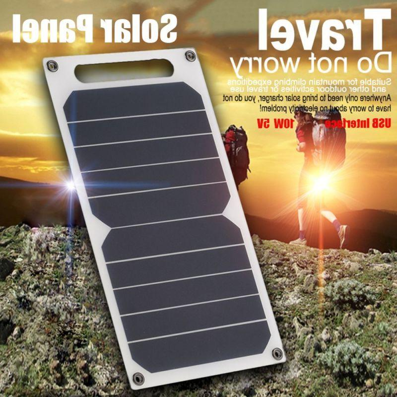 10W 5V Portable Solar Power Charger USB Port  Charging Panel