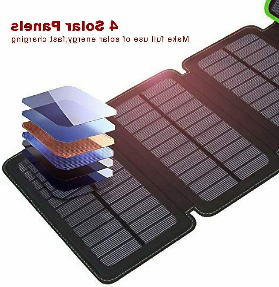 12000mAh Charger Portable Outdoor 4 Solar NEW