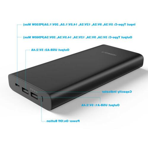 26800mAh PD Portable Power Bank 3 USB Charge for iPhone