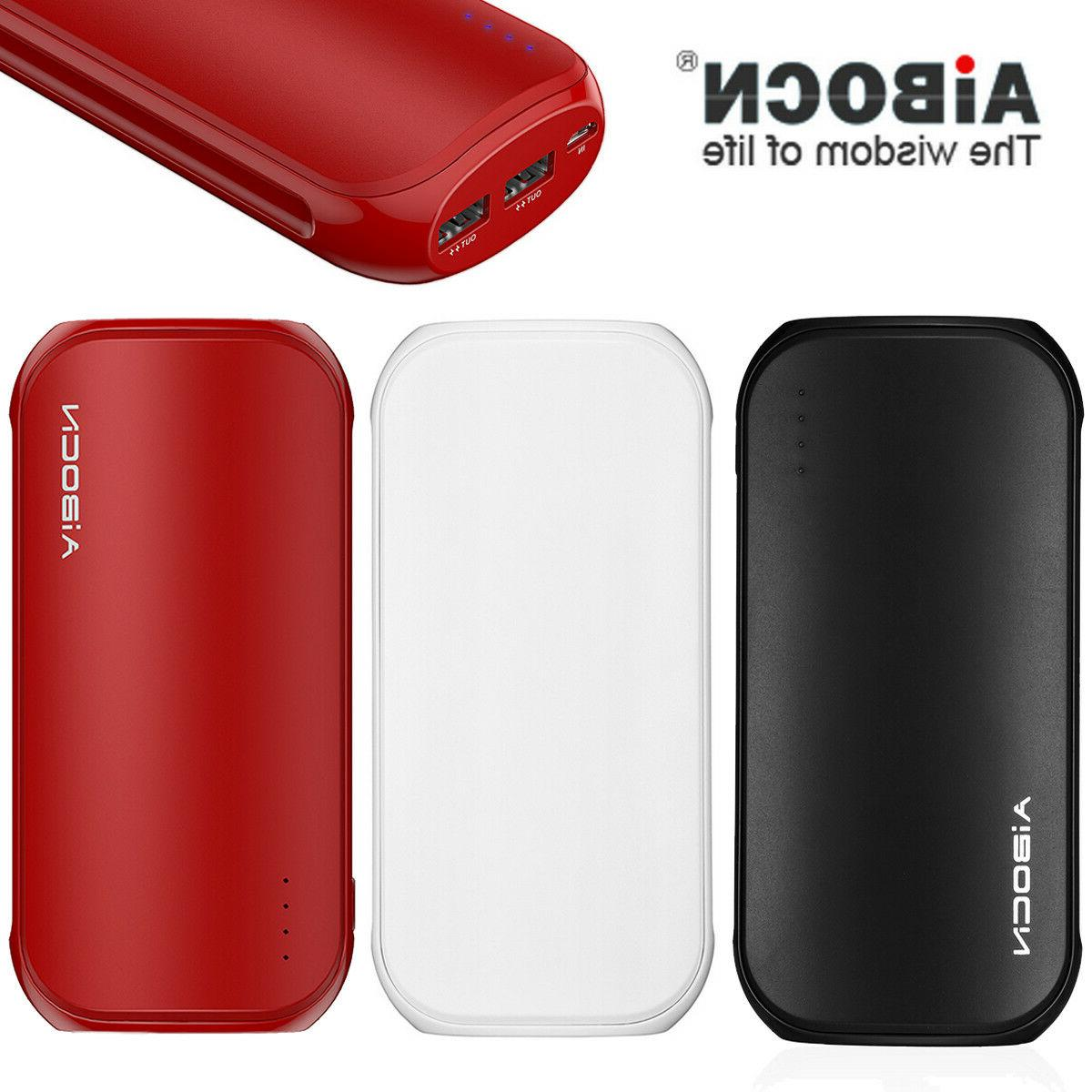 Aibocn 16000mAh Quick Charge Power Bank External 2 USB Backu