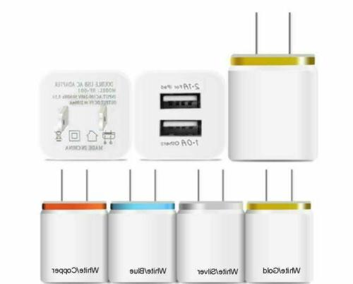 2.1A/1A USB Portable Plug Adapter Charger Lot