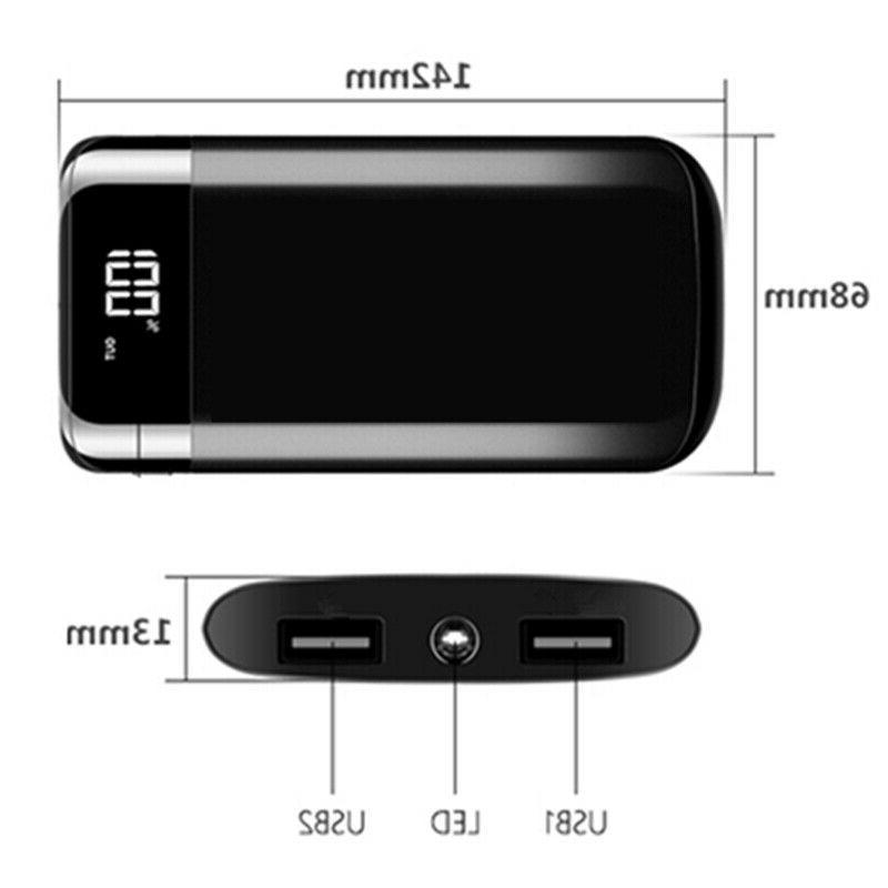 2000000mAh Portable Power Bank LCD USB Battery Charger for Cell