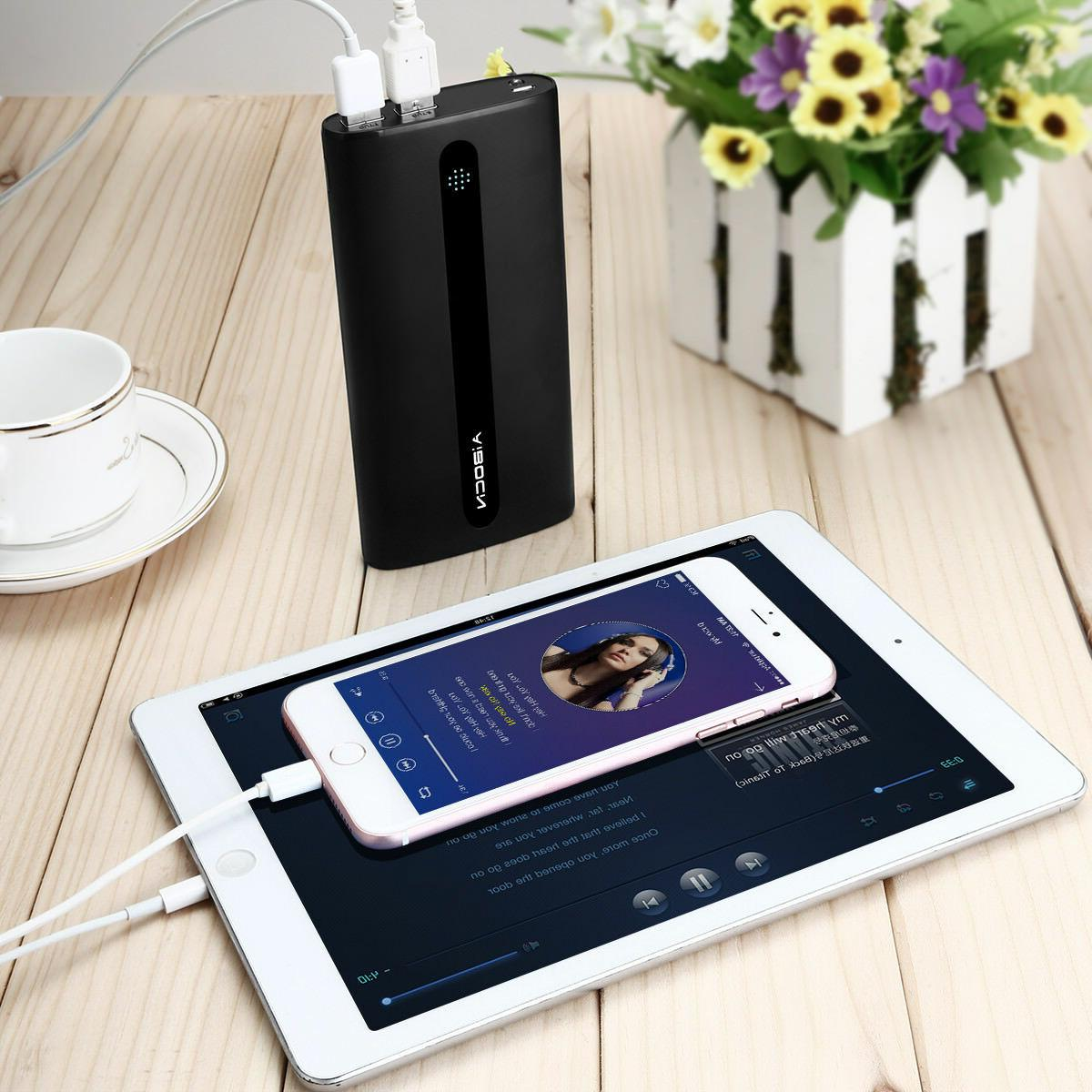 Aibocn 2 USB LED Portable Extenal Charger For Phone