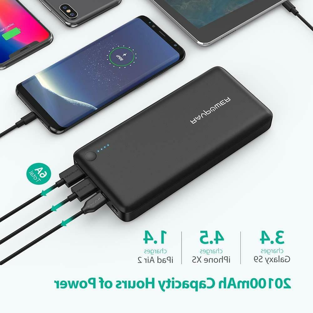 RAVPower Battery bank USB C Portable w/