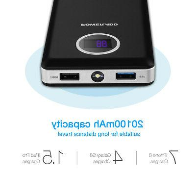 Poweradd 20000mAh LCD Fast Charger Power Bank Display