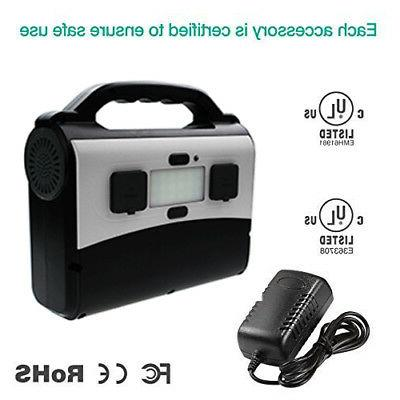 2USB Portable Battery 2 AC Outlet Solar Socket