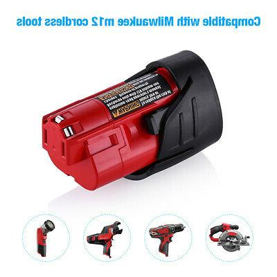 2500mAh Li-ion Battery For Milwaukee M12 48-11-2420 Cordless Tools