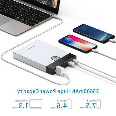 25600mAh Laptop Bank AC Outlet Bank Travel Charger