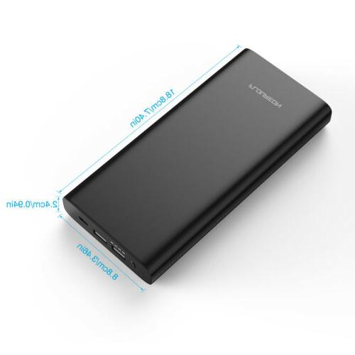 Portable 60W Battery Charger 3 USB For Laptop