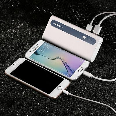 2PCS Power Bank Portable Battery Charger For iPhone LG Phones