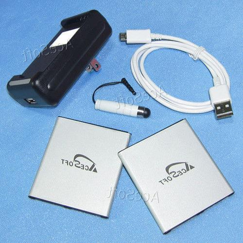 2x 2850mah battery portable charger cable 3ft