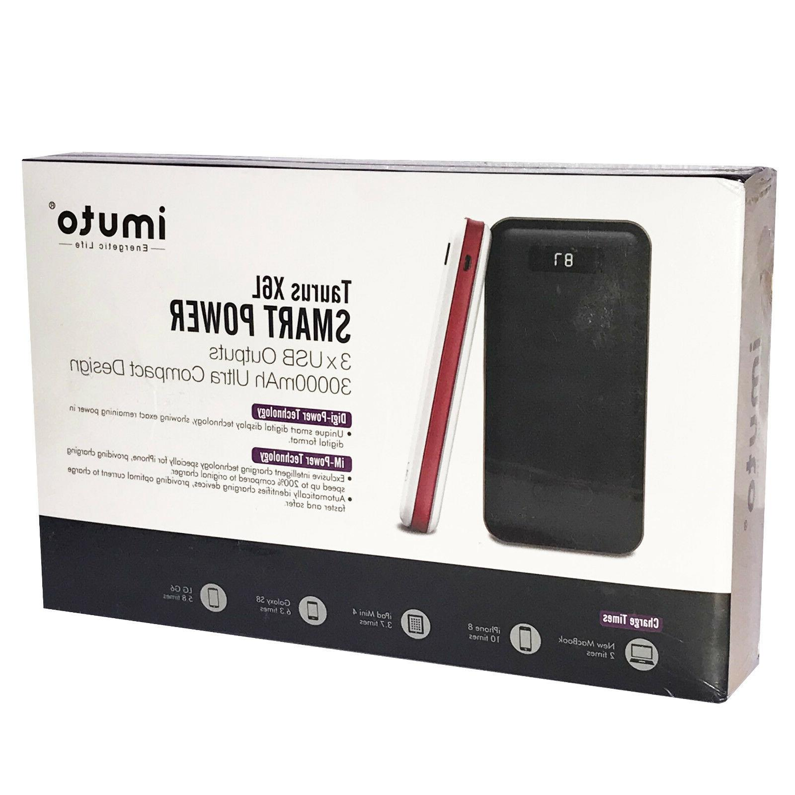 iMuto 30000 CHARGER 3-PORT USB POWER Quick Charging