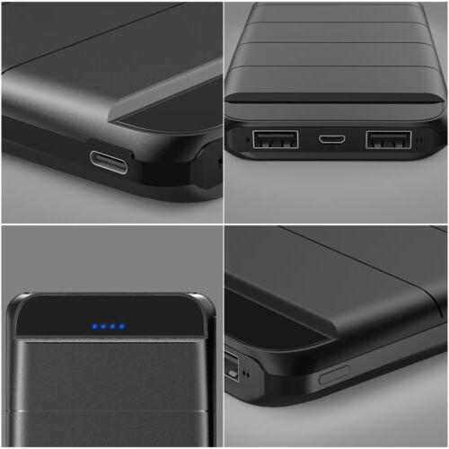 300000mAh Portable Power Battery Charger Dual LED Type-C Cell Phone