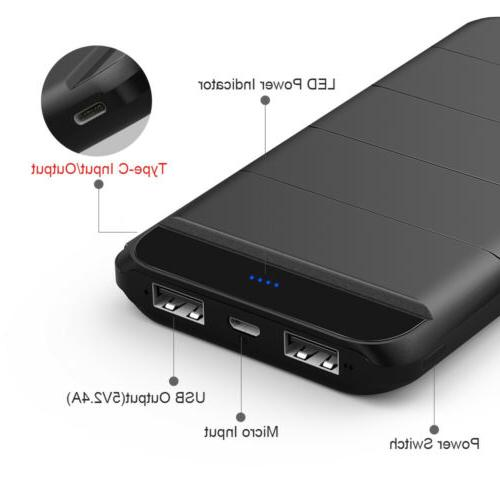 300000mAh Portable Bank Fast Charging 2 LED For Apple