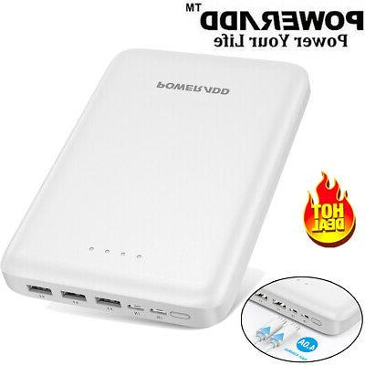30000mah portable power bank 3 port usb