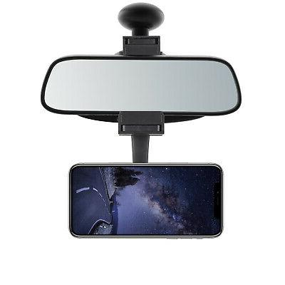 360° Universal Rearview Mirror Mount Stand Holder