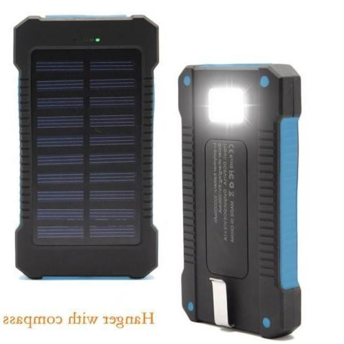 2020 900000mAh Portable Solar Battery Charger Solar Bank Phone