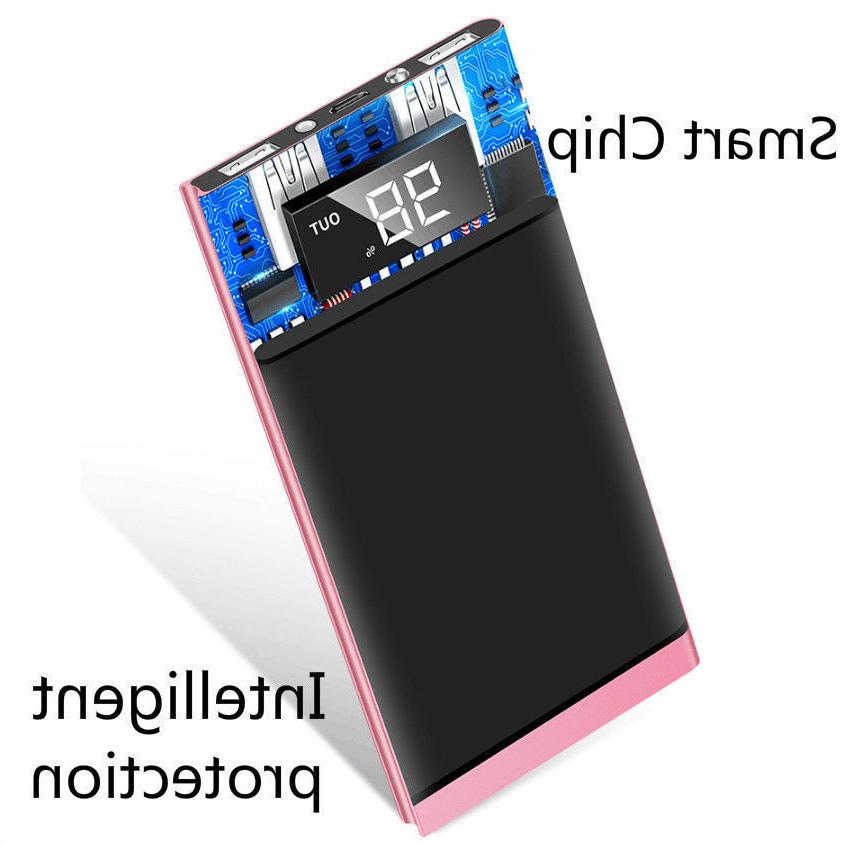 500000mAh LCD LED Bank Charger