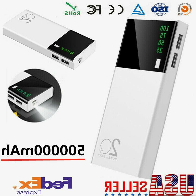 500000mah power bank portable external battery charger