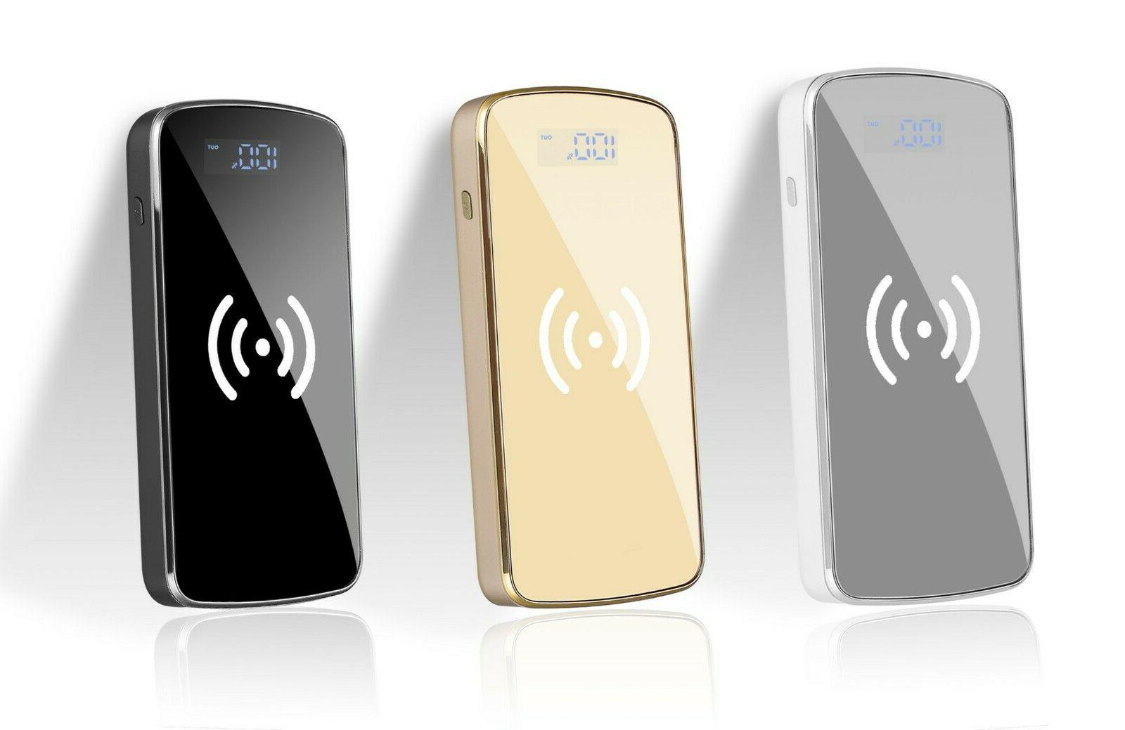 900000mAh Power Wireless Charging LCD Charger