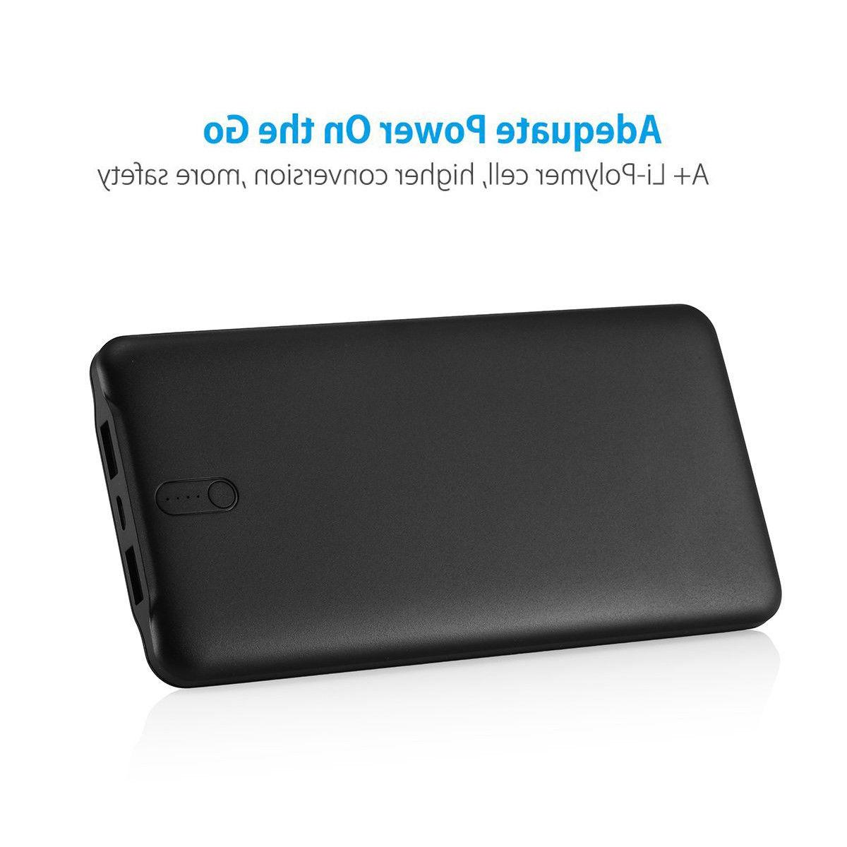 50000mAh 2 USB Power Bank Portable Quick Charger for 8 6