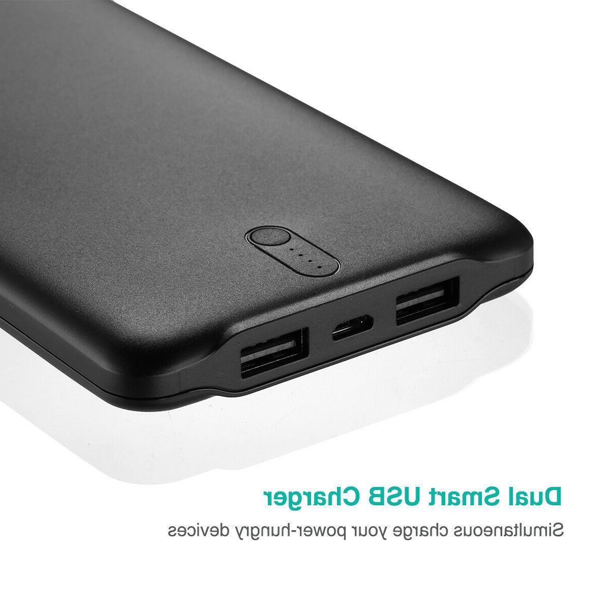 50000mAh Dual USB Power Quick Charger Mobile Phone