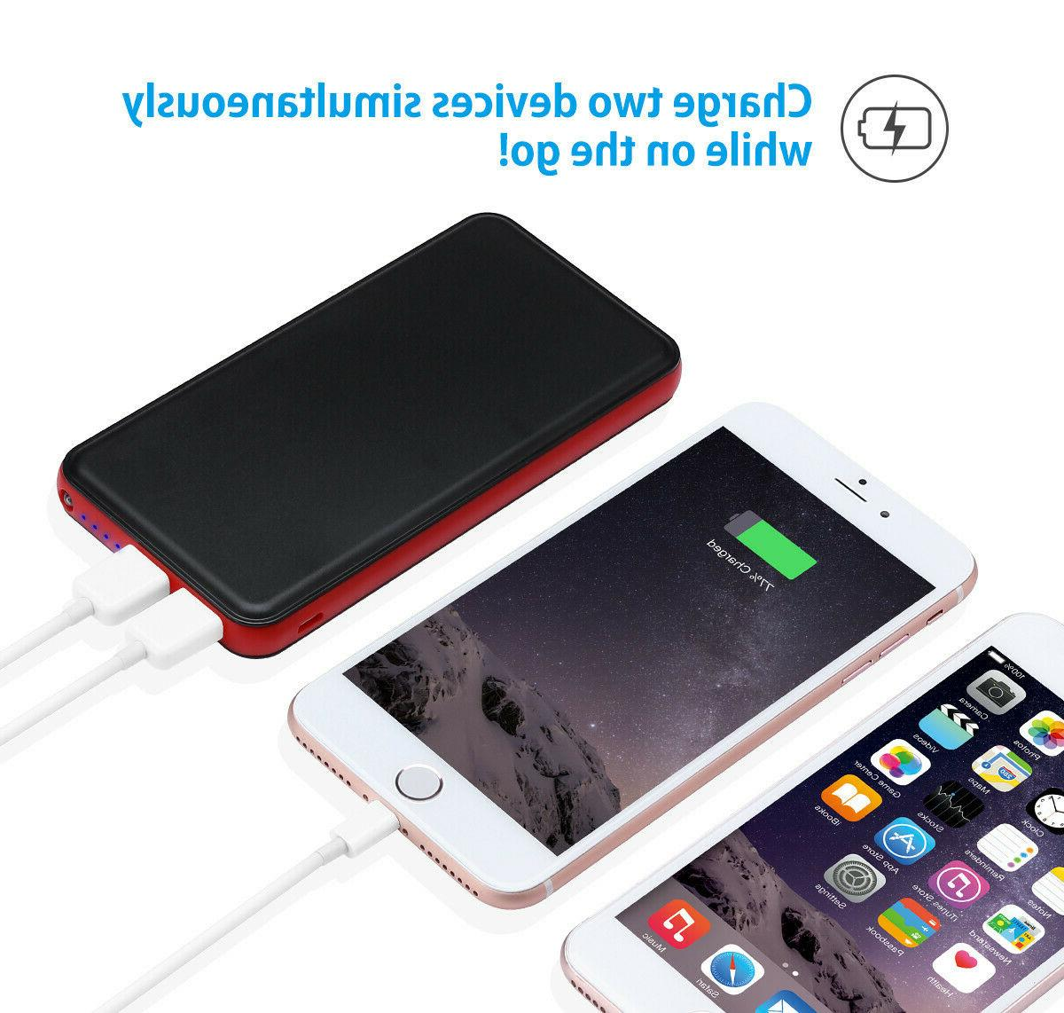 50000mAh Portable Dual Charger for iPhone 8 7 6 5