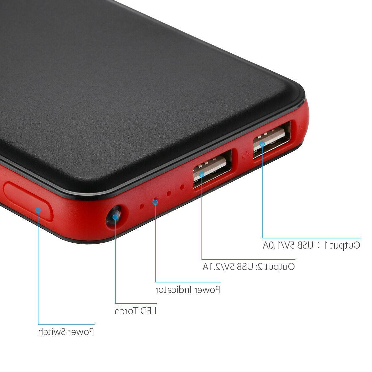 50000mAh Quick Portable Dual USB Battery Charger