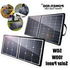 Poweradd 50W 100W Foldable Solar Panel 5V 12V 18V Battery Ch