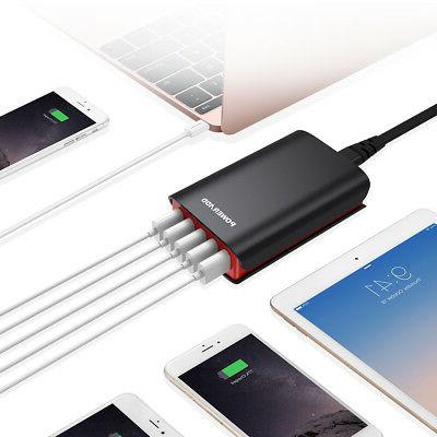 8A Port Portable Travel Charging Dock Charger Adapter