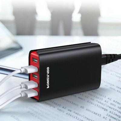 8A 5 Portable Travel Home Charging Station Charger Adapter