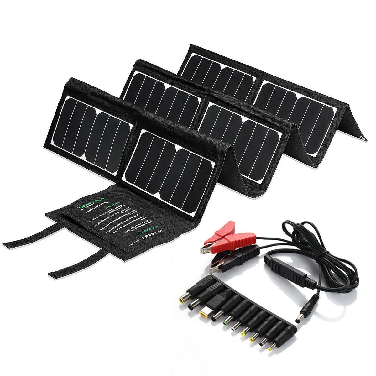Poweradd 60W Solar Charger Portable Solar Waterproof 18V 5V