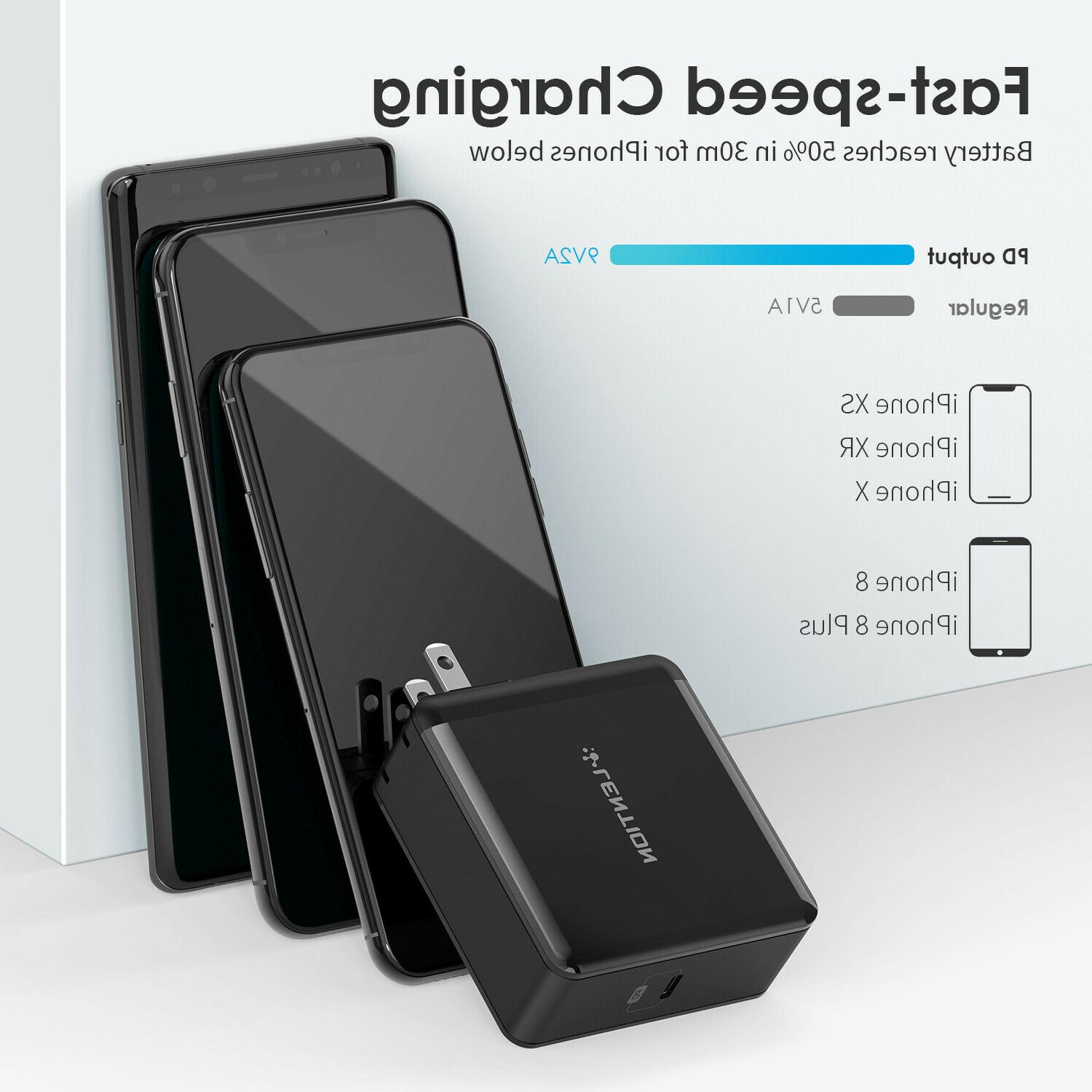LENTION 60W USB-C Fast Wall PD iPhone