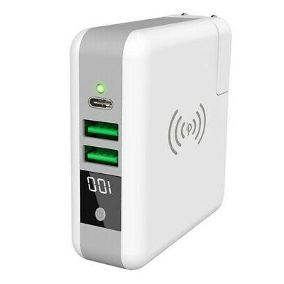 Qi Wireless Fast Charging Power Bank Portable Battery Charge