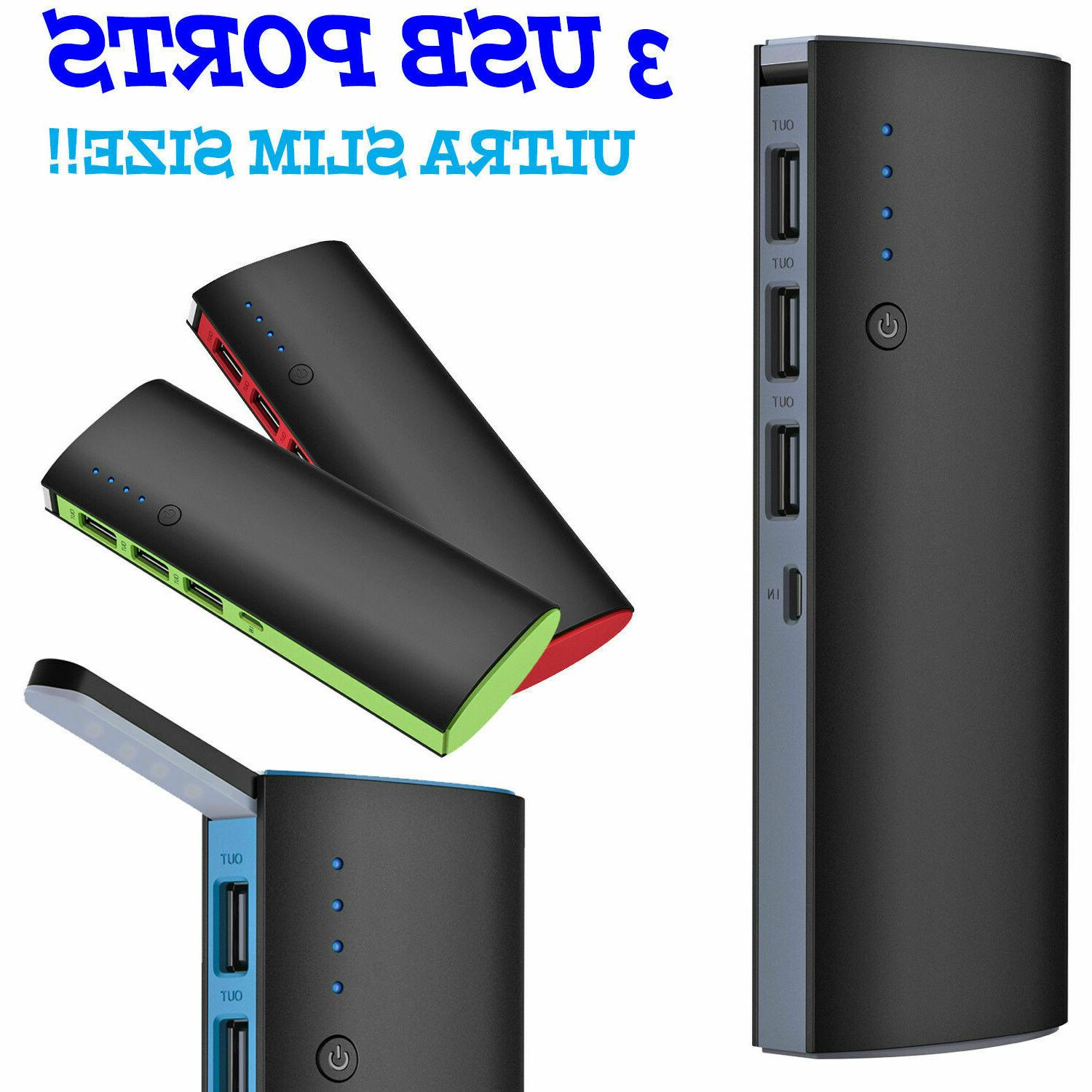 900000mah 3 usb external power bank portable
