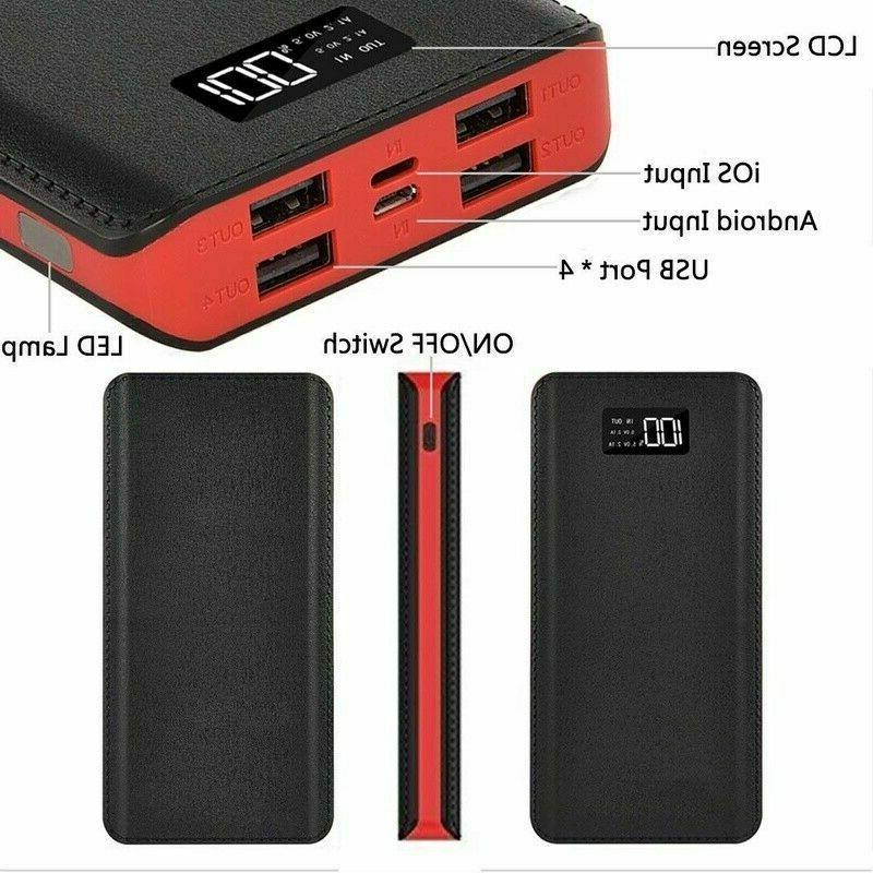900000mAh 4USB Portable Battery Charger