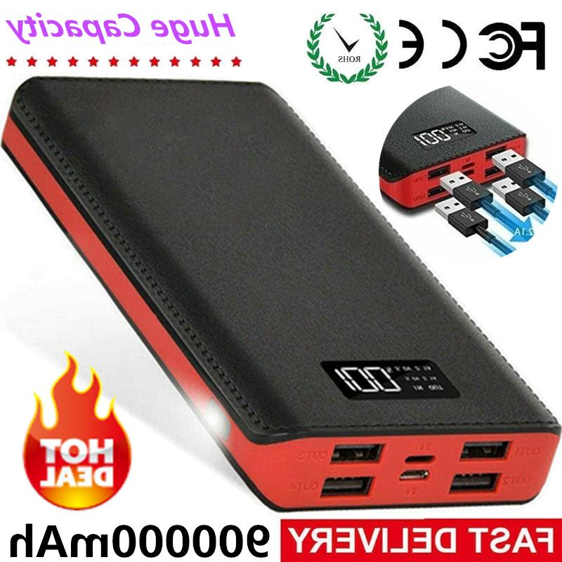 900000mah portable power bank 4usb external battery