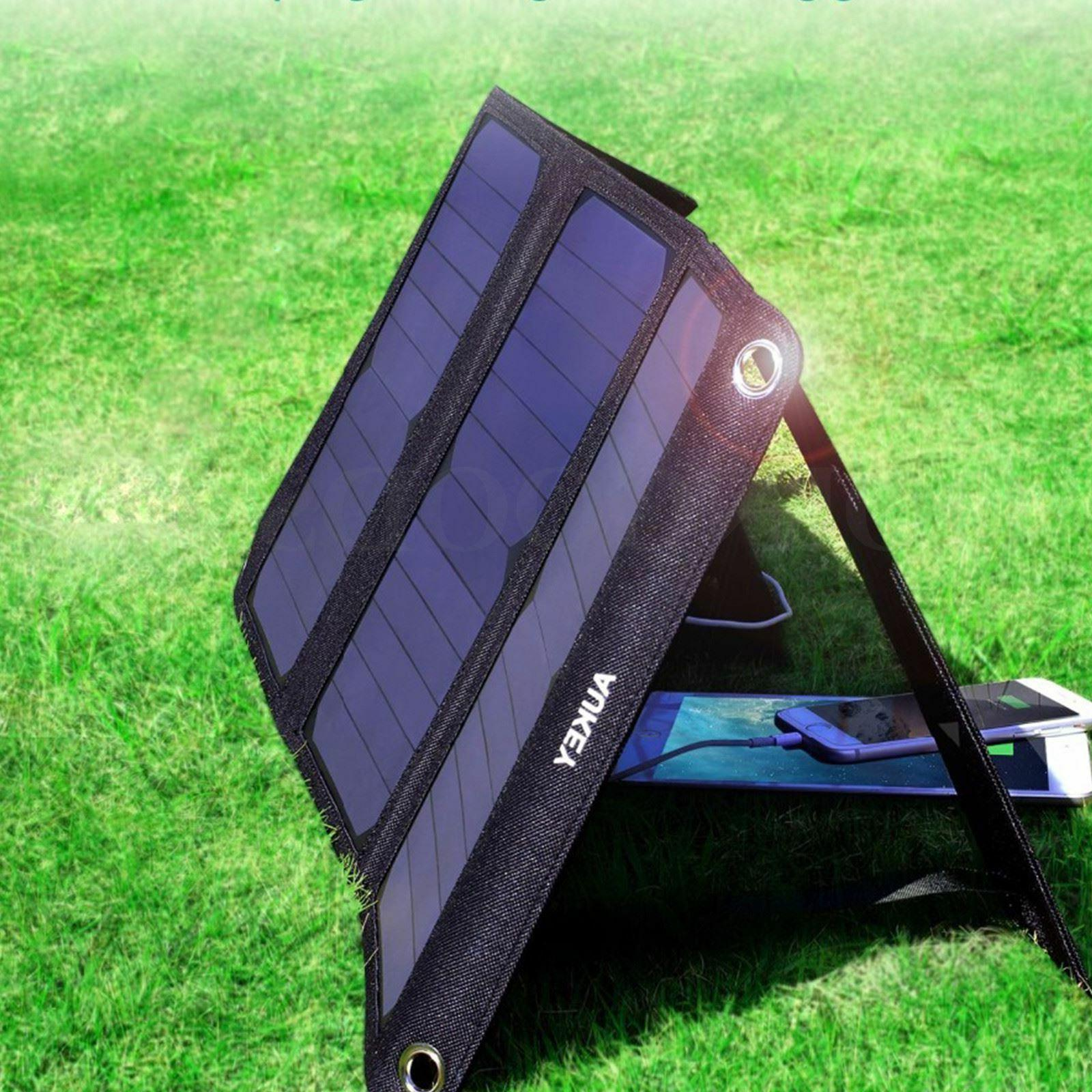 AUKEY Solar Charger 21W with USB iPhone