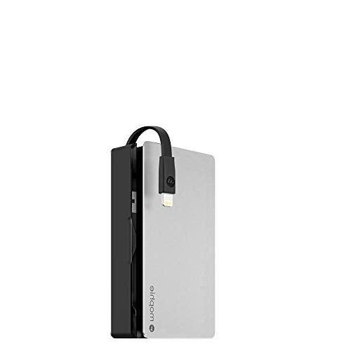 Mophie 5000 Plus External Battery Lightning-equipped Apple® Devices Silver/black