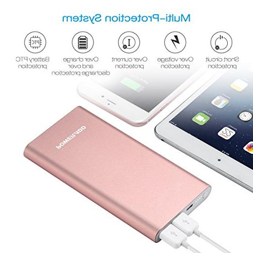 POWERADD 12000mAh Portable External Battery with 3A High-Speed Output Compatible with iPhone, iPad, and More - Gold