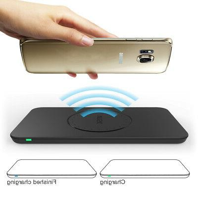 Portable 3 Coils Qi Wireless Charger Charging Pad for Samsun