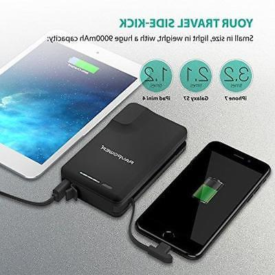 Portable Chargers 9000 RAVPower 9000mAh External Pack